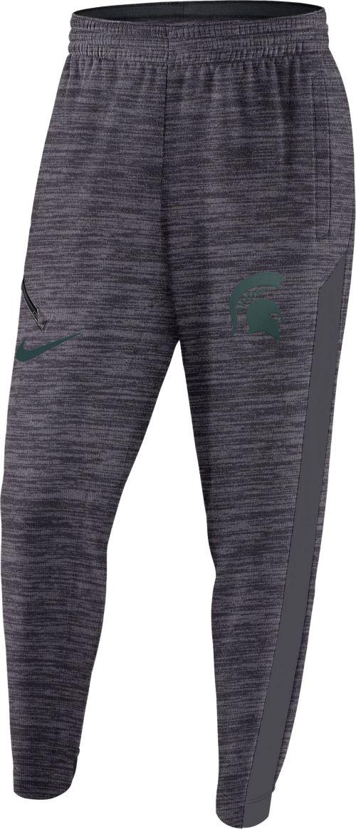 Nike Men s Michigan State Spartans Grey Spotlight Dri-FIT Basketball Pants.  noImageFound. Previous 59a665d2a745