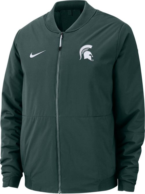 40ad561d Nike Men's Michigan State Spartans Green Bomber Full-Zip Jacket.  noImageFound. Previous