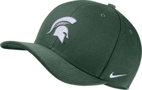 reputable site 3179c 86a77 Nike Men s Michigan State Spartans Green Classic99 Swoosh Flex Hat