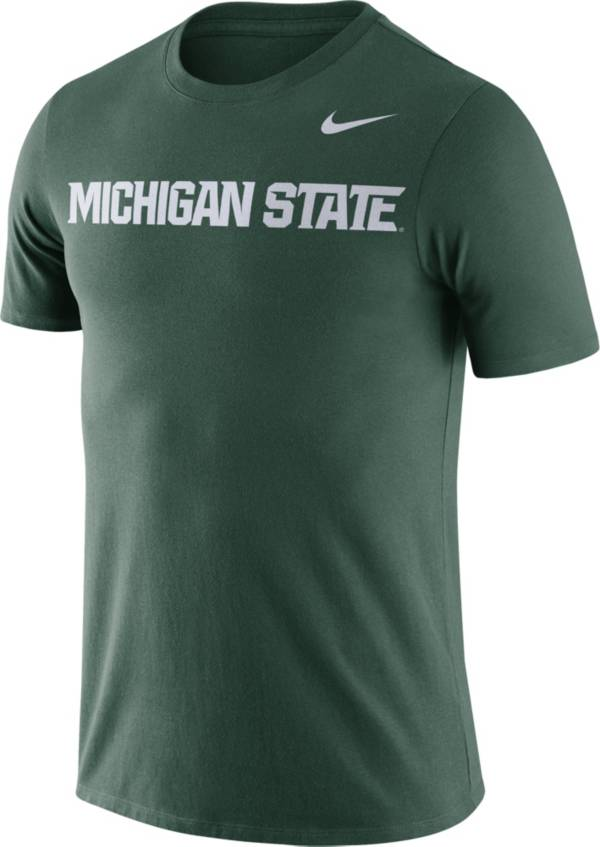 Nike Men's Michigan State Spartans Green Dri-FIT Cotton Word T-Shirt product image