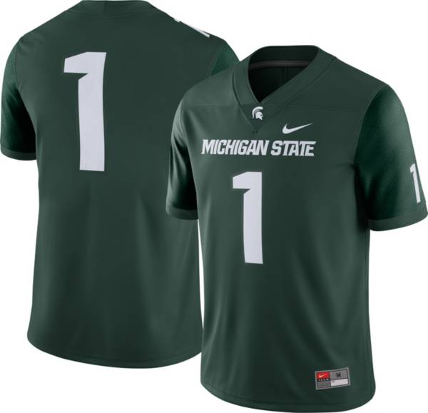 Nike Men's Michigan State Spartans #1 Green Dri-FIT Game Football Jersey product image