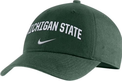 the best attitude 142c4 c37bd Nike Men s Michigan State Spartans Green Heritage86 Arch Wordmark Hat