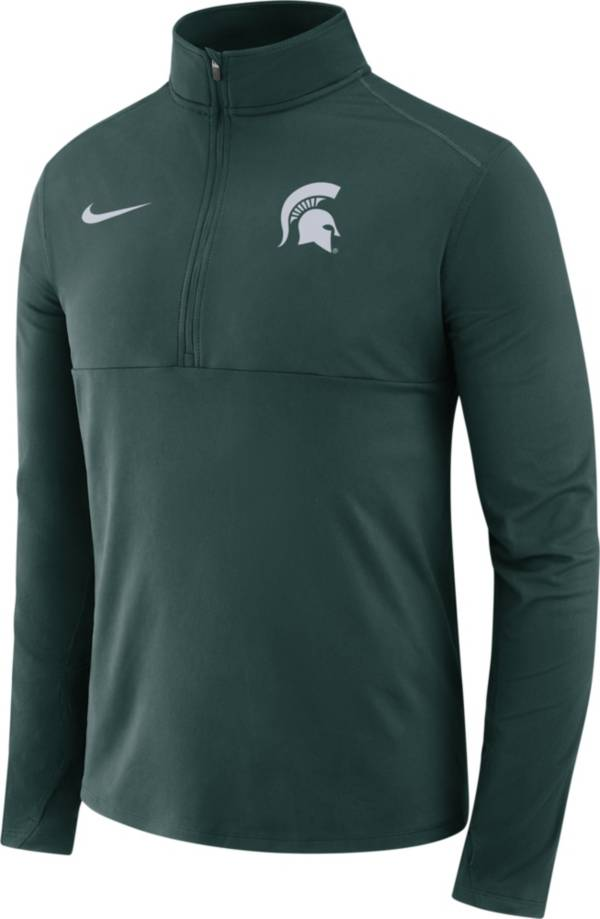 Nike Men's Michigan State Spartans Green Long Sleeve Core Half-Zip Pullover Shirt product image