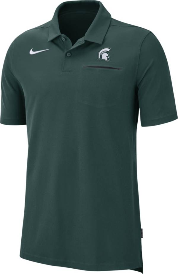 Nike Men's Michigan State Spartans Green Dri-FIT Elite Football Sideline Polo product image