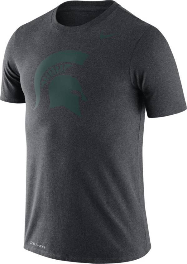 Nike Men's Michigan State Spartans Grey Logo Dry Legend T-Shirt product image