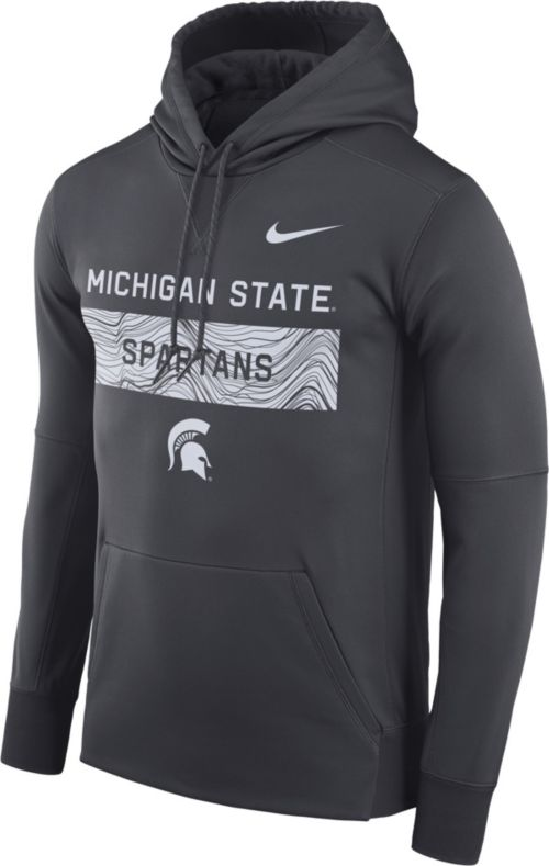 2b064588cd69 Nike Men s Michigan State Spartans Grey Therma-FIT Pullover Sideline Hoodie.  noImageFound. Previous