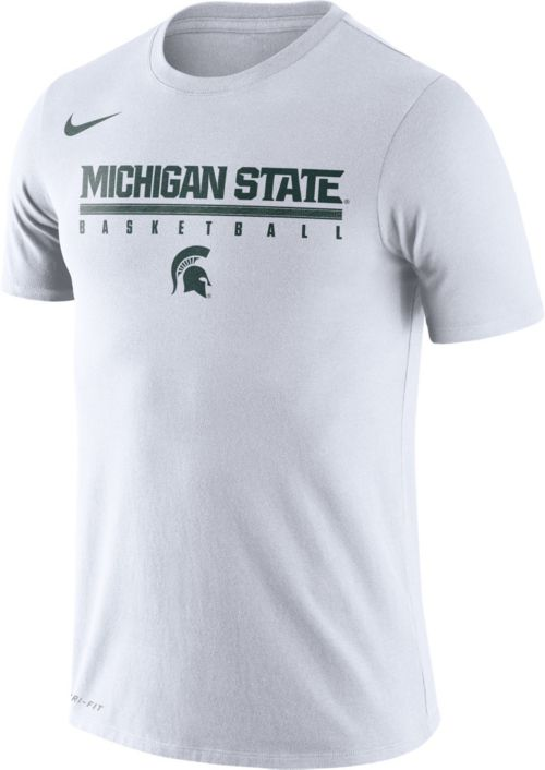 73391cc1 Nike Men's Michigan State Spartans Dri-FIT Practice Basketball White T-Shirt.  noImageFound. Previous