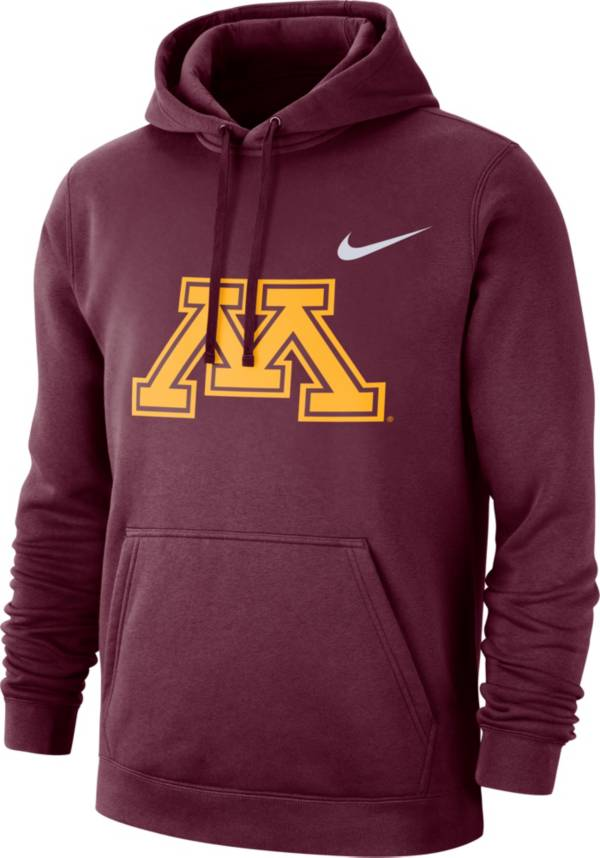 Nike Men's Minnesota Golden Gophers Maroon Club Fleece Pullover Hoodie product image