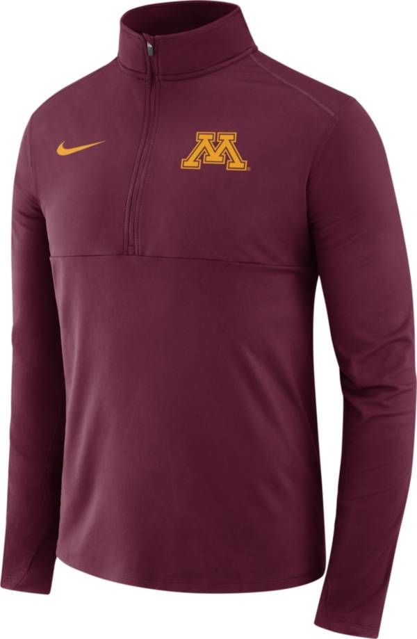 Nike Men's Minnesota Golden Gophers Maroon Long Sleeve Core Half-Zip Pullover Shirt product image
