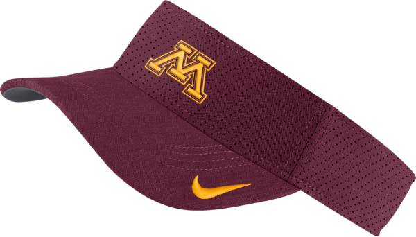 Nike Men's Minnesota Golden Gophers Maroon AeroBill Football Sideline Visor product image