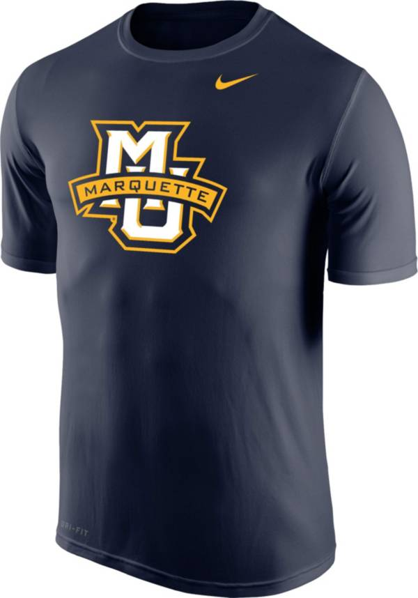 Nike Men's Marquette Golden Eagles Blue Logo Legend T-Shirt product image