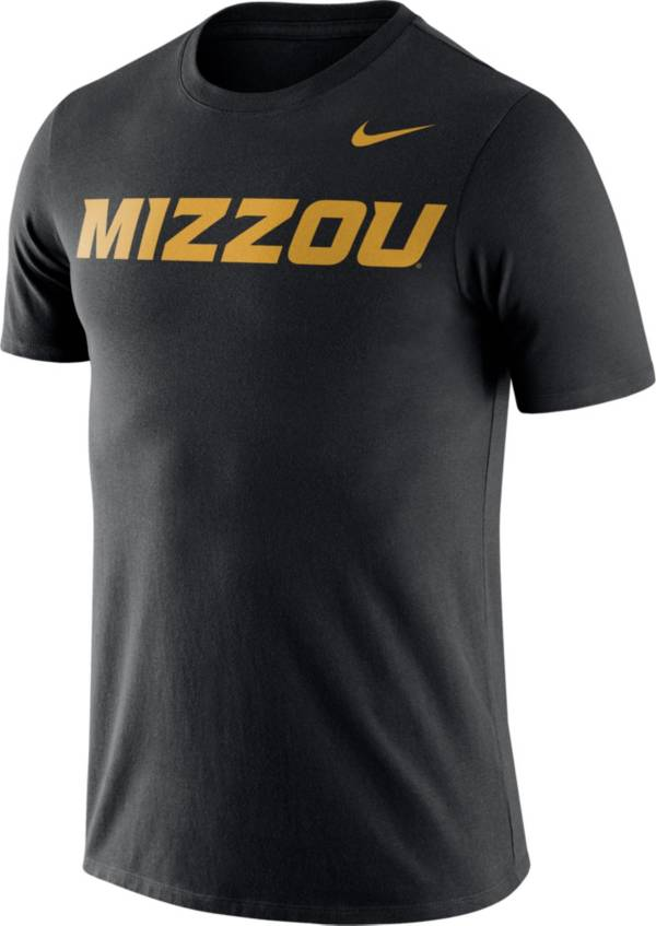 Nike Men's Missouri Tigers Dri-FIT Cotton Word Black T-Shirt product image