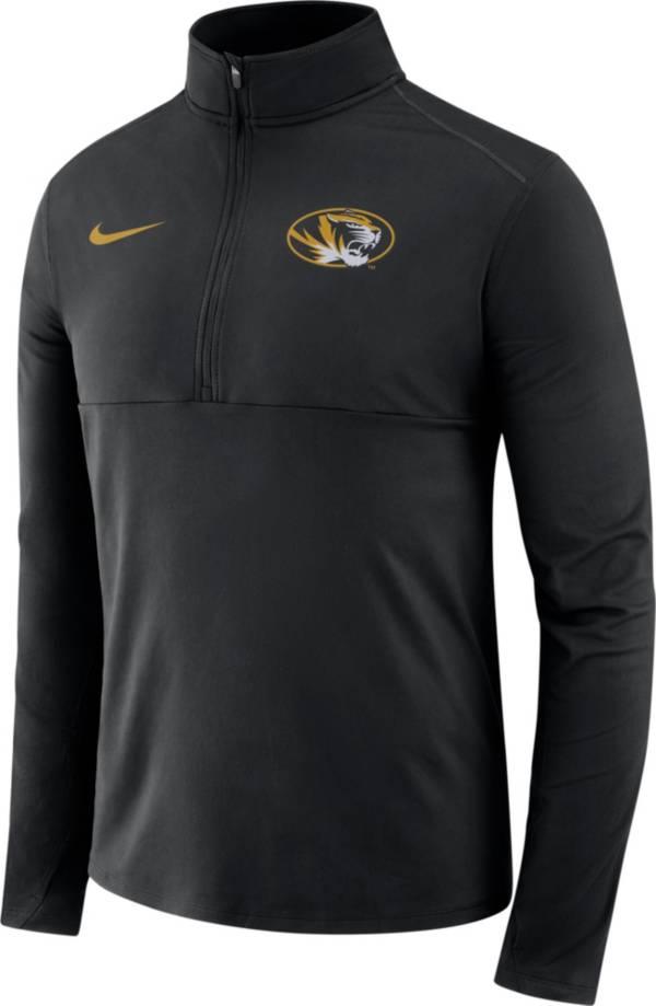 Nike Men's Missouri Tigers Long Sleeve Core Half-Zip Black Shirt product image