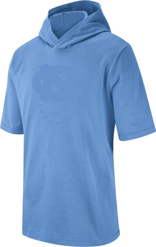 503721e872bb Jordan Men s North Carolina Tar Heels Carolina Blue NRG Basketball Short  Sleeve Pullover Hooded Shirt. noImageFound. Previous