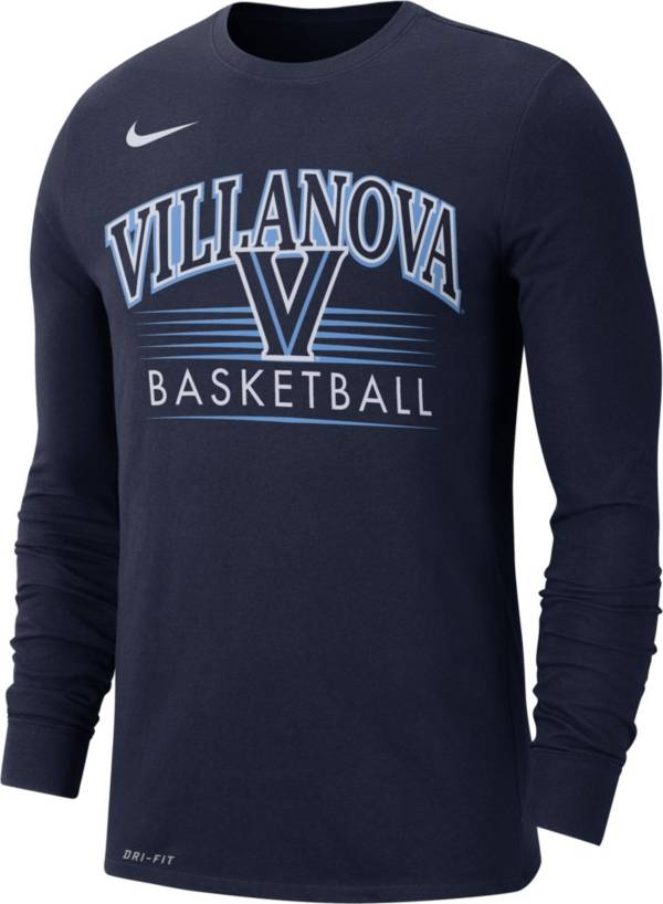 Nike Men's Villanova Wildcats Navy Dri-FIT Retro Long Sleeve Basketball T-Shirt product image