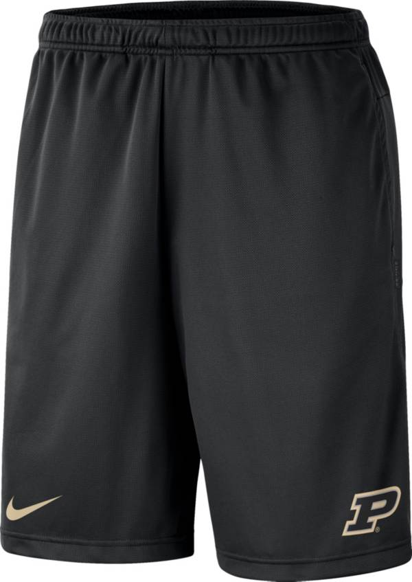 Nike Men's Purdue Boilermakers Dri-FIT Coach Black Shorts product image