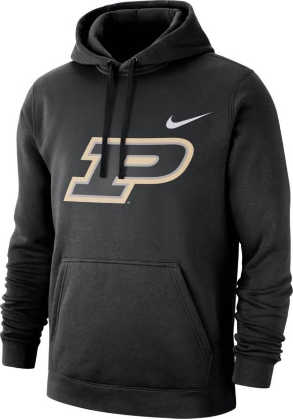 Nike Men's Purdue Boilermakers Club Fleece Pullover Black Hoodie product image