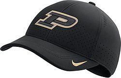 68541608 Nike Men's Purdue Boilermakers Aerobill Classic99 Football Sideline Black  Hat