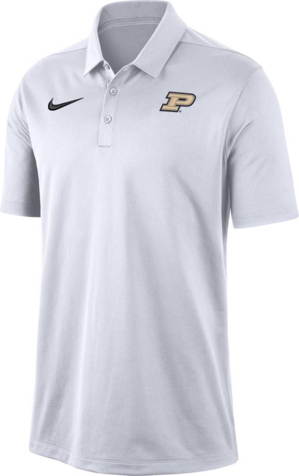 Nike Men's Purdue Boilermakers Dri-FIT Franchise White Polo product image