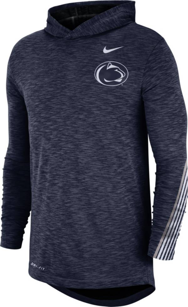 Nike Men's Penn State Nittany Lions Blue Cotton Long Sleeve Hoodie T-Shirt product image
