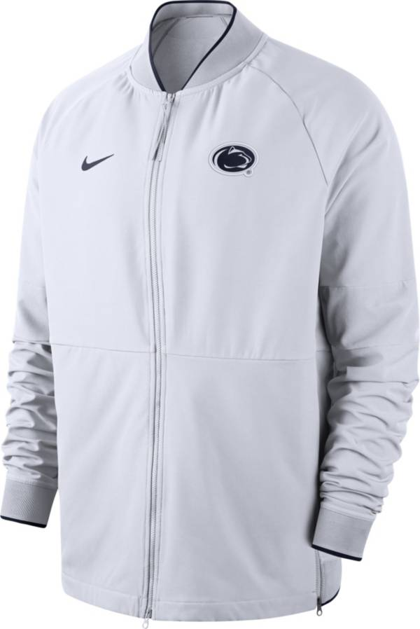 Nike Men's Penn State Nittany Lions Therma Hybrid Full-Zip White Jacket product image