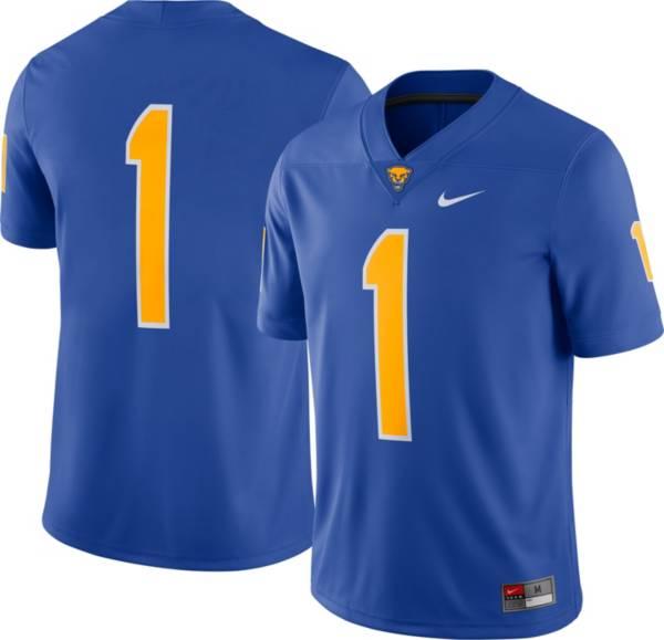 Nike Men's Pitt Panthers #1 Blue Dri-FIT Game Football Jersey product image