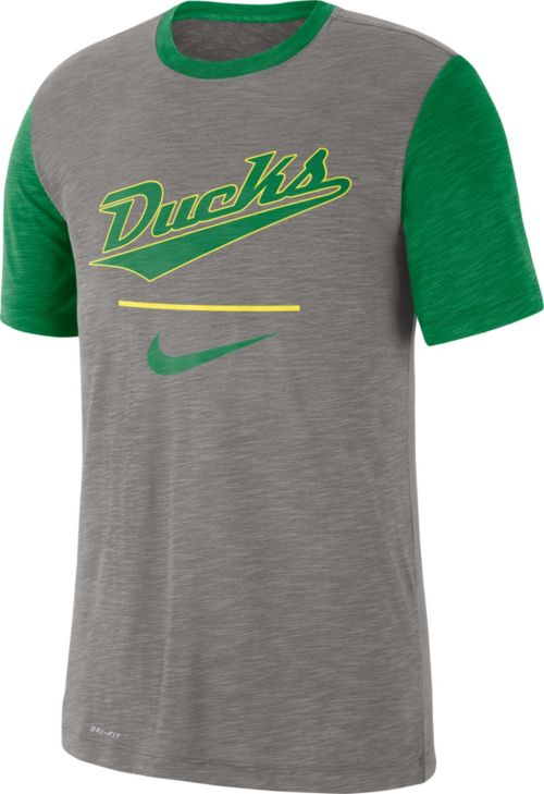 4c9fe2e15057 Nike Men s Oregon Ducks Grey Dri-FIT Baseball Slub T-Shirt. noImageFound.  Previous