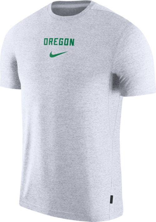sale retailer 7889e 69f0e Nike Men s Oregon Ducks Dri-FIT Coach UV Football White T-Shirt.  noImageFound. Previous