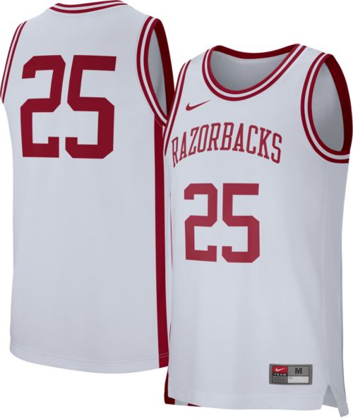 4f81949261f Nike Men s Arkansas Razorbacks White  25 Replica Basketball Jersey.  noImageFound. Previous