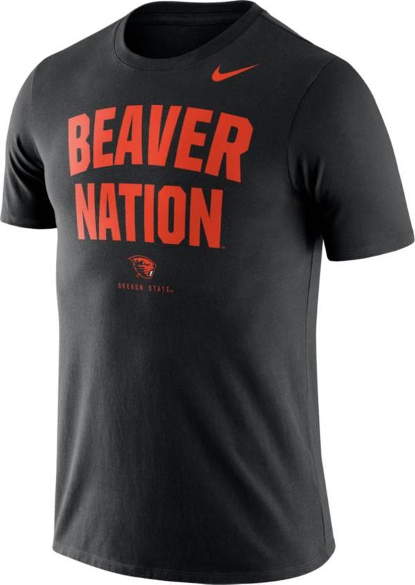 Nike Men's Oregon State Beavers Dri-FIT Phrase Black T-Shirt product image