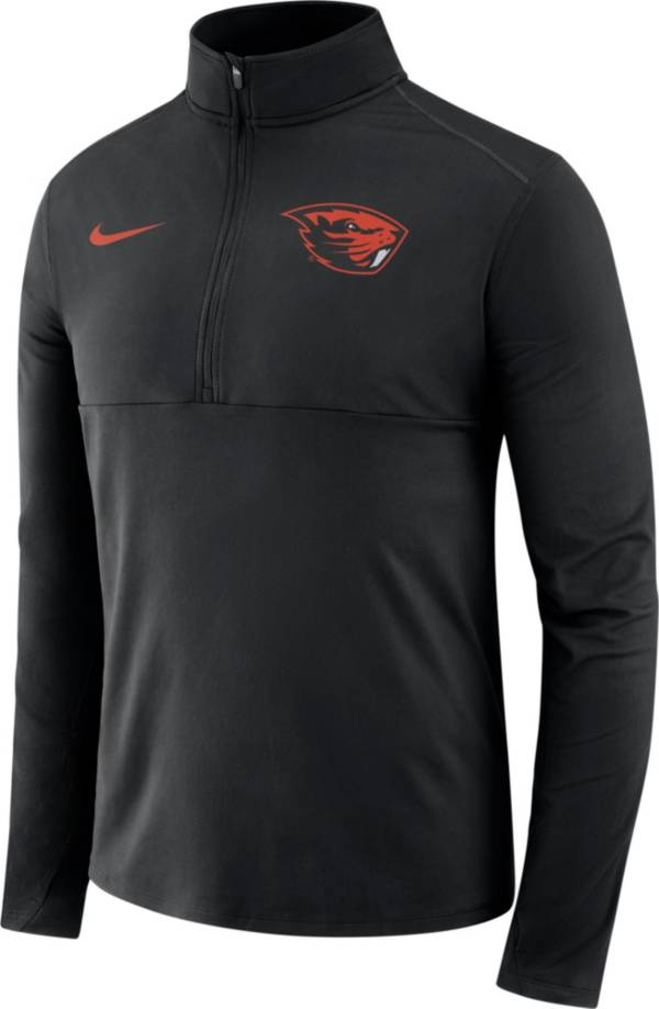 Nike Men's Oregon State Beavers Long Sleeve Core Half-Zip Black Shirt product image