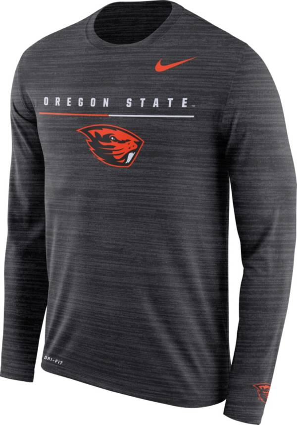 Nike Men's Oregon State Beavers Velocity Legend Graphic Long Sleeve Black T-Shirt product image