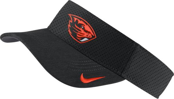Nike Men's Oregon State Beavers AeroBill Football Sideline Black Visor product image