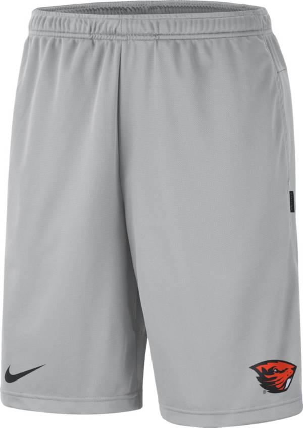 Nike Men's Oregon State Beavers Grey Dri-FIT Coach Shorts product image