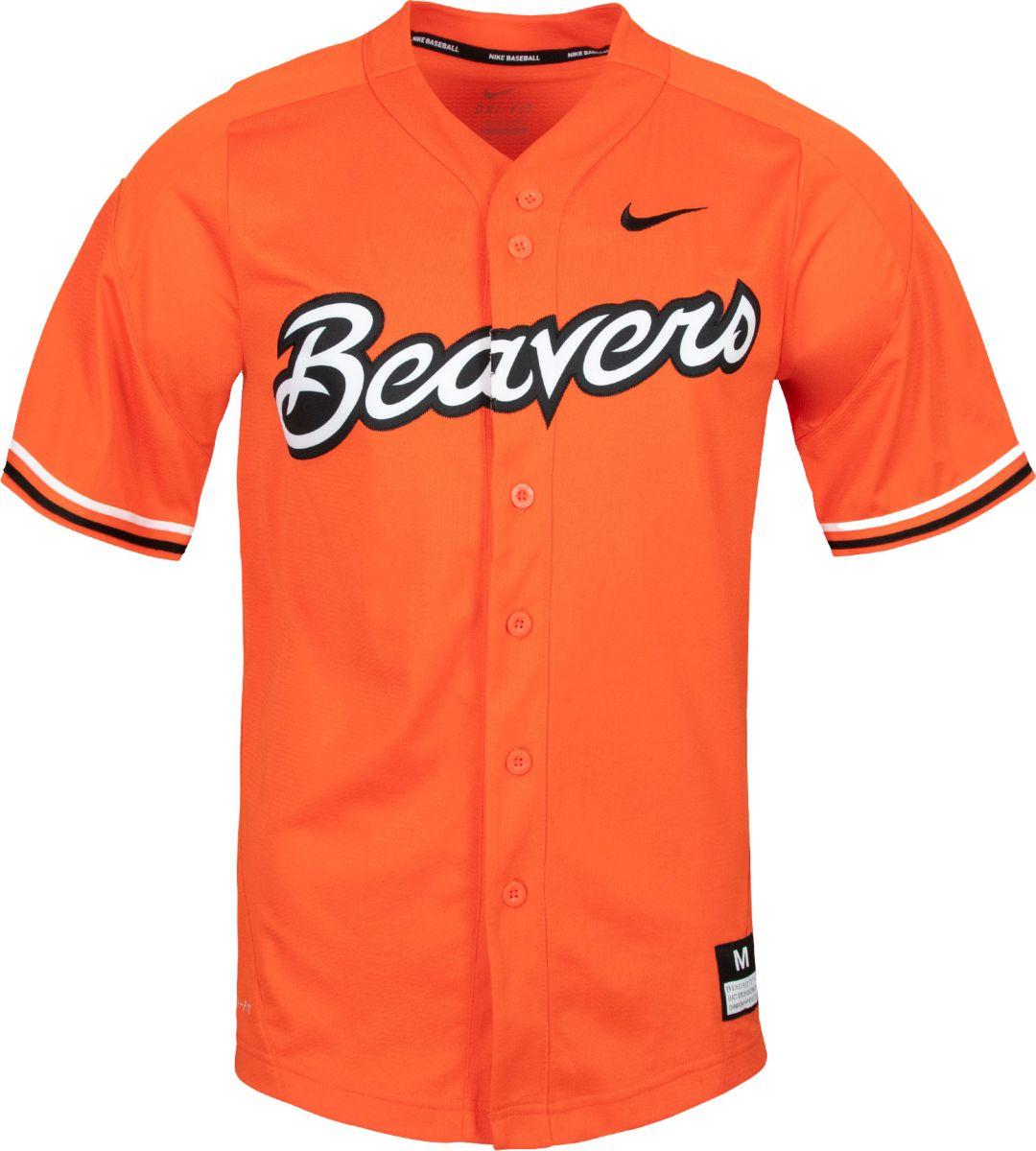 more photos 6a126 1650d Nike Men s Oregon State Beavers Orange Dri-FIT Replica Baseball Jersey.  noImageFound. Previous
