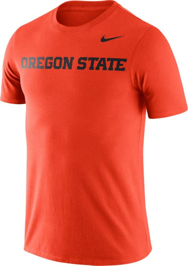 Nike Men's Oregon State Beavers Orange Dri-FIT Cotton Word T-Shirt product image