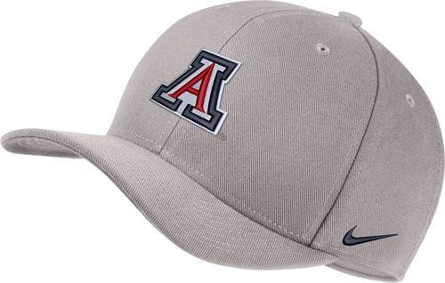 fbbf0a5f18b18 Nike Men s Arizona Wildcats Grey Classic99 Swoosh Flex Hat