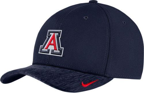 9f7e8133a73 Nike Men s Arizona Wildcats Navy Aerobill Swoosh Flex Classic99 Football  Sideline Hat