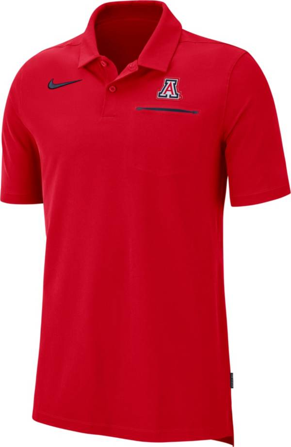 Nike Men's Arizona Wildcats Cardinal Dri-FIT Elite Football Sideline Polo product image