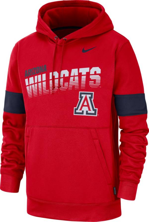 Nike Men's Arizona Wildcats Cardinal Therma Football Sideline Pullover Hoodie product image