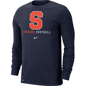 innovative design b4e7a 87d48 Nike Men's Syracuse Orange Blue Football Icon Wordmark Long Sleeve T-Shirt