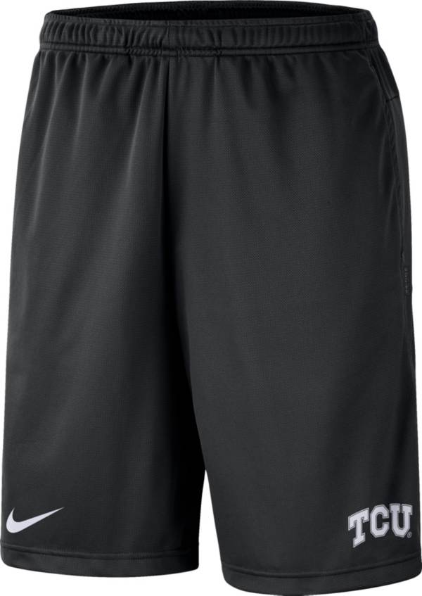 Nike Men's TCU Horned Frogs Dri-FIT Coach Black Shorts product image