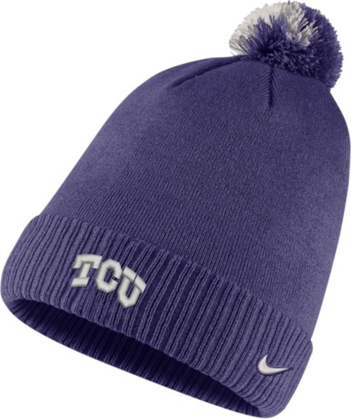 40dd2a168bc Nike Men s TCU Horned Frogs Purple Football Sideline Pom Beanie.  noImageFound. Previous
