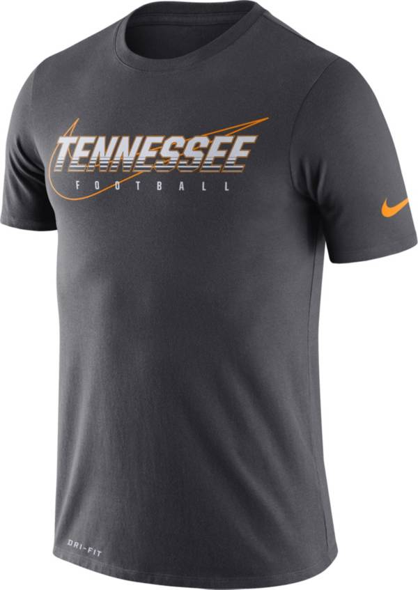 Nike Men's Tennessee Volunteers Grey Football Dri-FIT Cotton Facility T-Shirt product image