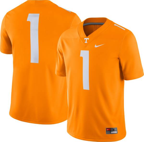 Nike Men's Tennessee Volunteers #1 Tennessee Orange Dri-FIT Game Football Jersey product image