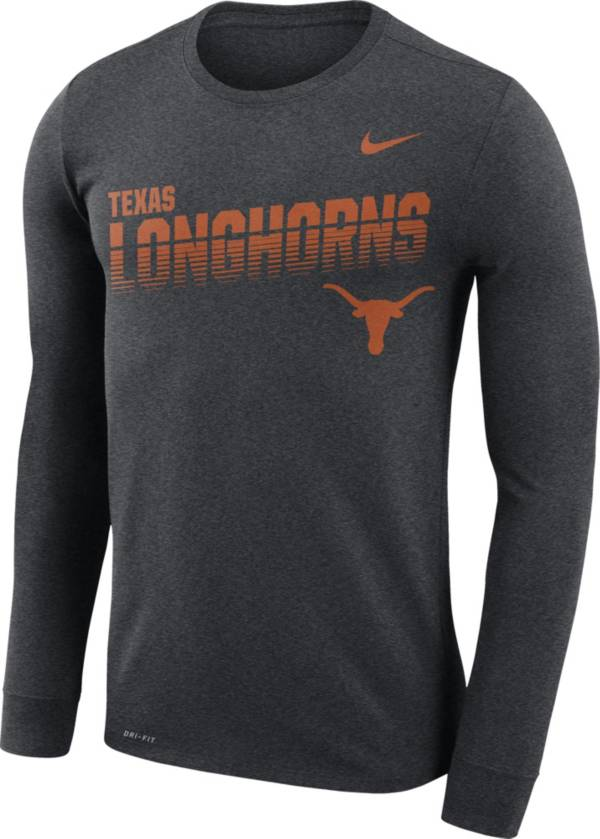 Nike Men's Texas Longhorns Grey Legend Football Sideline Long Sleeve T-Shirt product image