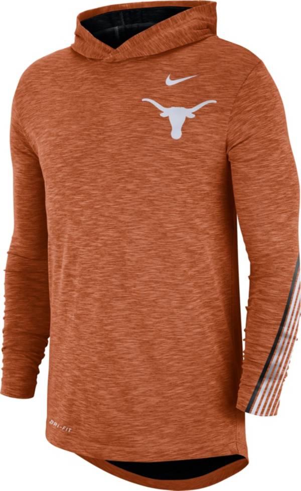 Nike Men's Texas Longhorns Burnt Orange Cotton Long Sleeve Hoodie T-Shirt product image