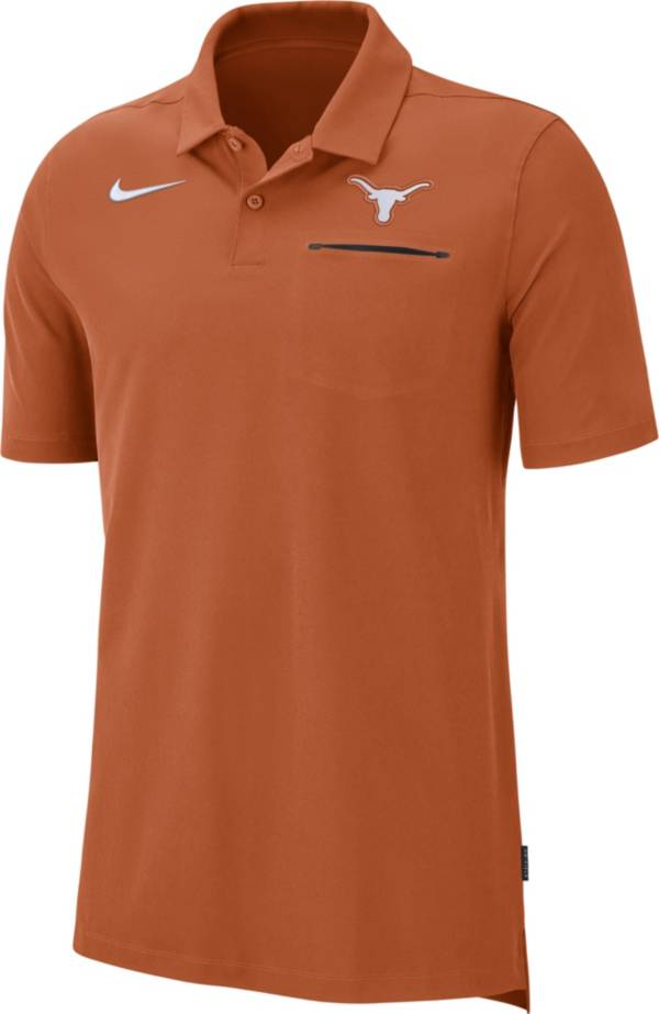 Nike Men's Texas Longhorns Burnt Orange Dri-FIT Elite Football Sideline Polo product image