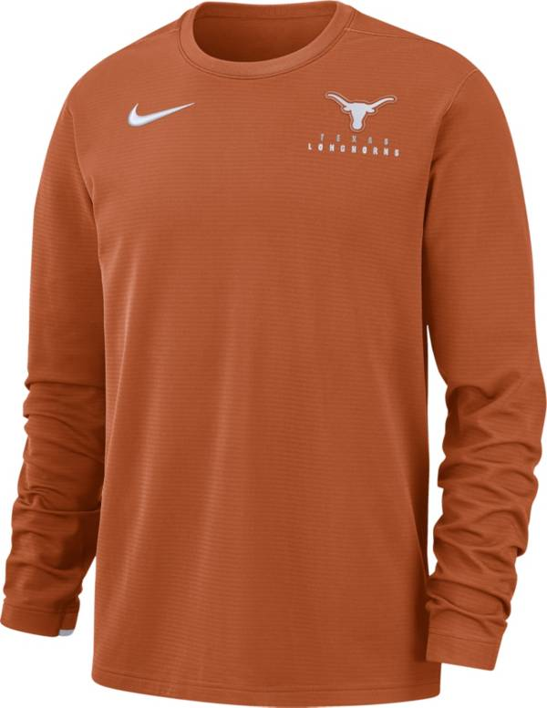 Nike Men's Texas Longhorns Burnt Orange Dri-FIT Modern Long Sleeve Crew Neck T-Shirt product image