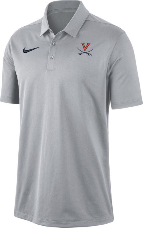 23bf8796 Nike Men's Virginia Cavaliers Grey Dri-FIT Franchise Polo. noImageFound.  Previous